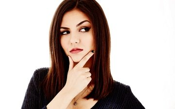girl, pose, portrait, look, hair, lips, face, actress, victoria justice