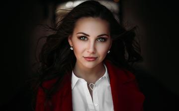girl, portrait, look, model, hair, lips, face, ivan proskurin, vlada