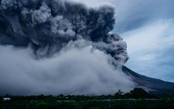 the eruption, the volcano, the explosion