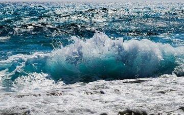 water, wave, sea, drops, squirt, splash, foam
