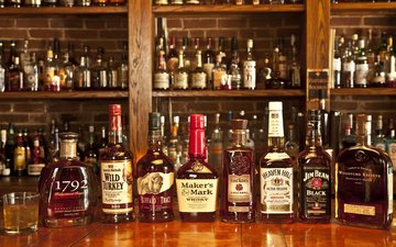 bar, drinks, bottle, alcohol, cognac, brand, whiskey, rum, stand, brandy, bourbon