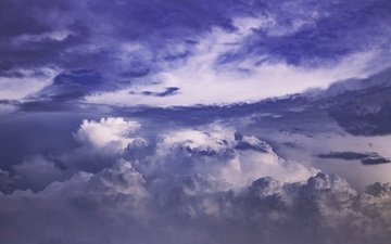 the sky, clouds, nature