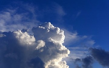 the sky, clouds, blue sky, white clouds