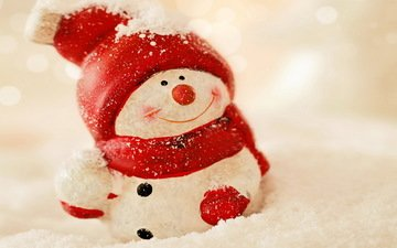 snow, new year, winter, snowman, christmas