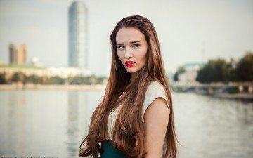 девушка, платье, портрет, модель, лицо, длинные волосы, efremov sergey