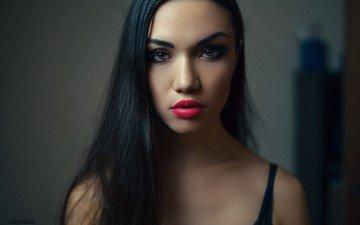 глаза, девушка, портрет, модель, губы, лицо, длинные волосы, andrew betrugger