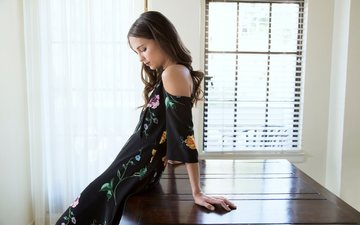 девушка, платье, профиль, актриса, окно, алисия викандер