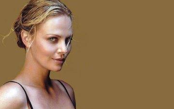 девушка, блондинка, красавица, актриса, макияж, шарлиз терон