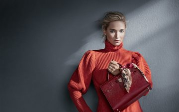 blonde, makeup, advertising, photoshoot, bag, jennifer lawrence, the wall, patrick demarchelier, dior