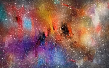 abstraction, colorful, paint, spot, blur, watercolor