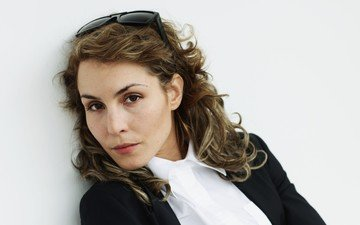 girl, portrait, look, glasses, hair, face, actress, noomi rapace