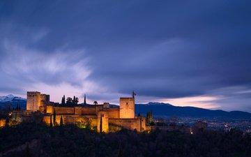 архитектура, испания, освещение, провинция, гранада