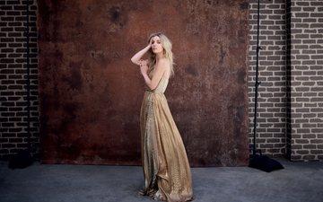 девушка, платье, блондинка, взгляд, волосы, лицо, актриса, аннабель уоллис, аннабель фрэнсис уоллис