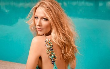 girl, blonde, look, model, hair, face, actress, celebrity, blake lively, fabrice dall anese