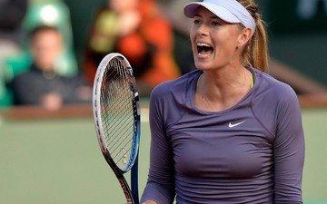 blonde, racket, sports wear, maria sharapova, tennis player