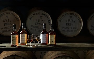 bottle, barrels, scotland, alcohol, whiskey, the balvenie, balvenie