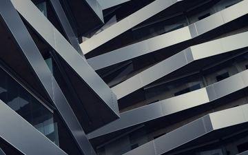 дизайн, архитектура, здание, балконы