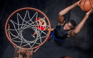 ring, the game, sport, male, the ball, basketball, throw