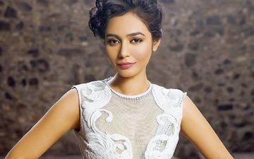 девушка, взгляд, модель, волосы, лицо, актриса, знаменитость, болливуд, meghana kaushik, мегана каушик