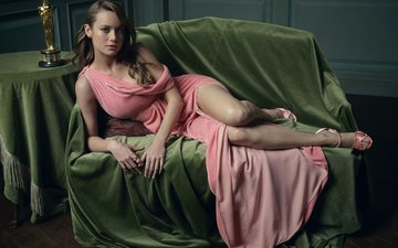 girl, dress, pose, look, legs, hair, face, actress, singer, photoshoot, brie larson