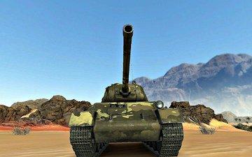 пустыня, танк, игра, пески