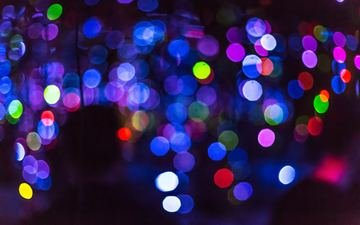 light, abstraction, colorful, color, glare, circles