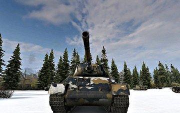 танк, игра, мир танков, т 43, зимний камуфляж