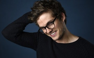 smile, look, glasses, actor, face, daniel sharman