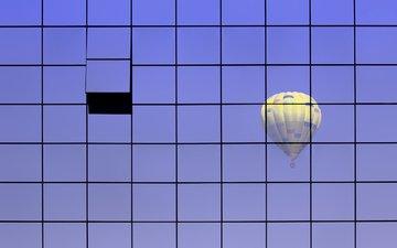 стена, шар, воздушный, стекло
