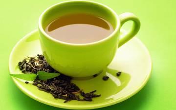 зелёный, чай, в, ароматный