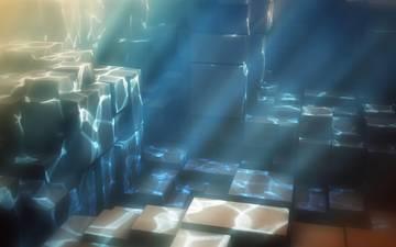 свет, вода, кубы