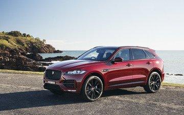car, suv, burgundy, jaguar, f-pace