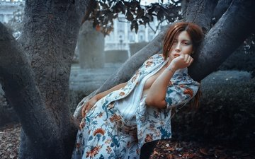tree, girl, look, model, hair, face, rafa sanchez, livay