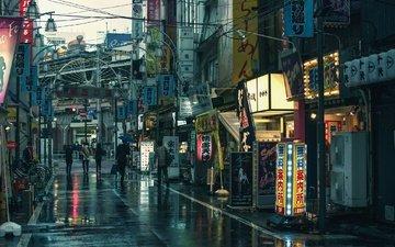 город, япония, улица, токио, shimbashi