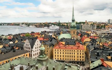 the city, sweden, old town, stockholm, capital, gamla stan