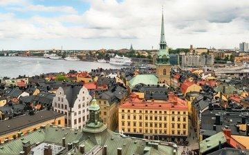 город, швеция, старый город, стокгольм, столица, gamla stan