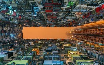 город, здания, бразилия, двор, апартаменты