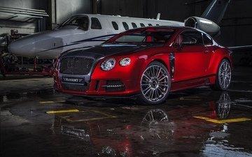 красный, авто, гараж, ангар, бентли