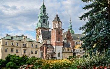 poland, krakow, wawel castle