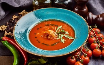 vegetables, tomatoes, pepper, soup, gazpacho