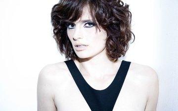 поза, взгляд, лицо, актриса, макияж, прическа, голые плечи, стана катич, стана катик