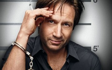 pose, look, actor, face, cigarette, the series, handcuffs, david duchovny, hank moody, californication