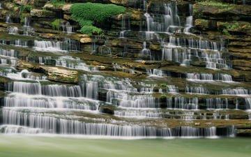 река, водопад, сша, каскад, теннесси
