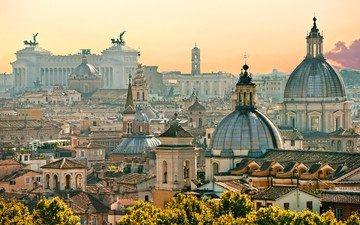 лучи солнца, италия, архитектура, рим, достопримечательности, ватикан