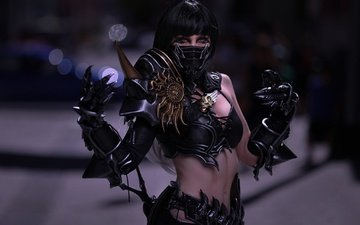 style, girl, look, hair, face, costume, cosplay