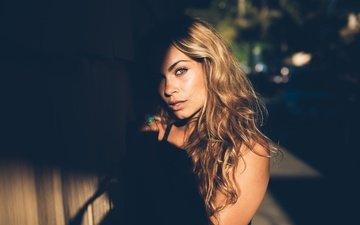 light, girl, look, model, hair, face