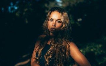 girl, look, model, hair, face, curls