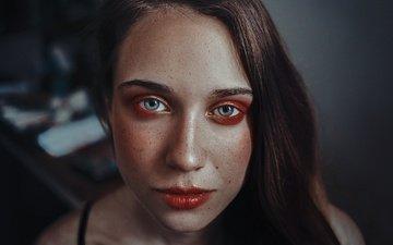 girl, portrait, look, hair, lips, face, makeup, rafa sanchez