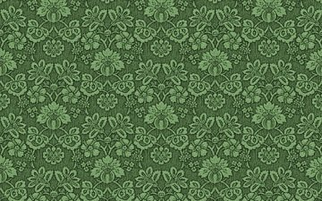 цветы, зелёный, фон, узор, цвет, орнамент, ткань