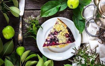 flowers, leaves, fruit, apples, sweet, cakes, dessert, pie, pear